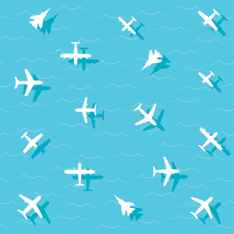 Flugzeuge fliegen stock abbildung
