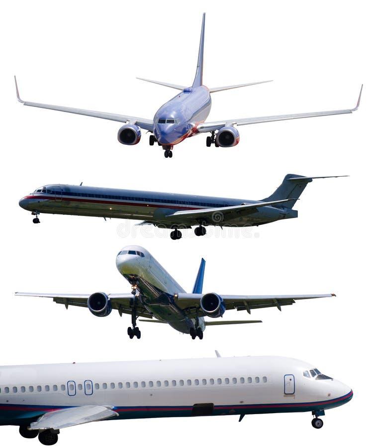 Flugzeuge getrennt mit den umreißpfaden eingeschlossen stockbilder