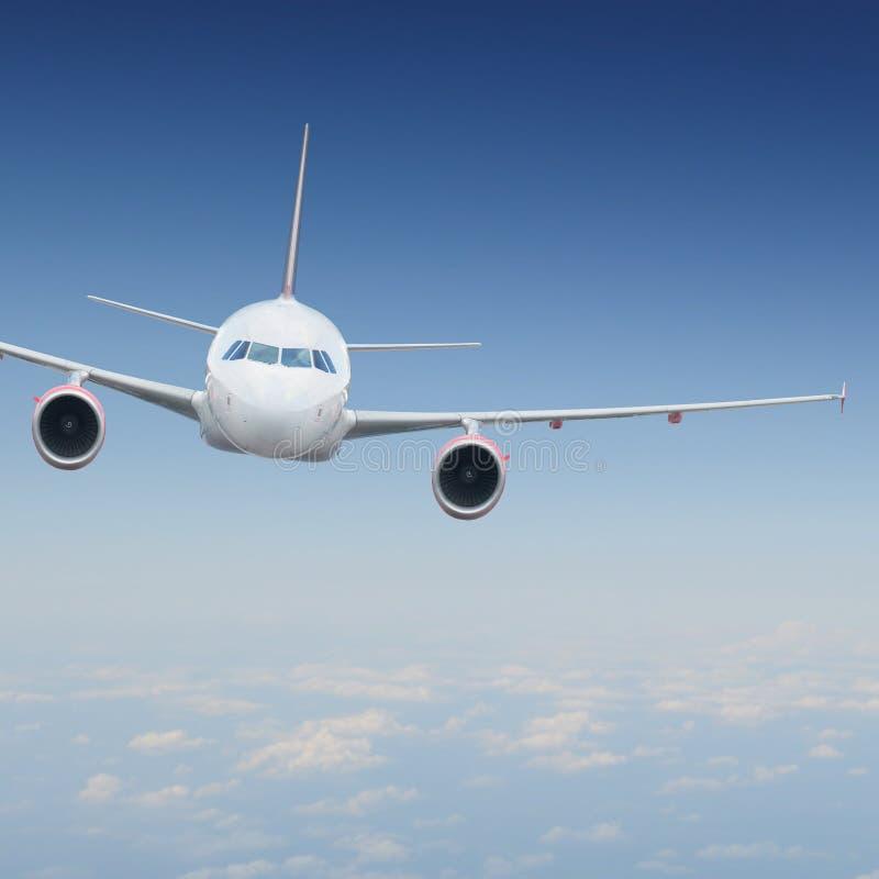 Flugzeuge im Himmel stockbild