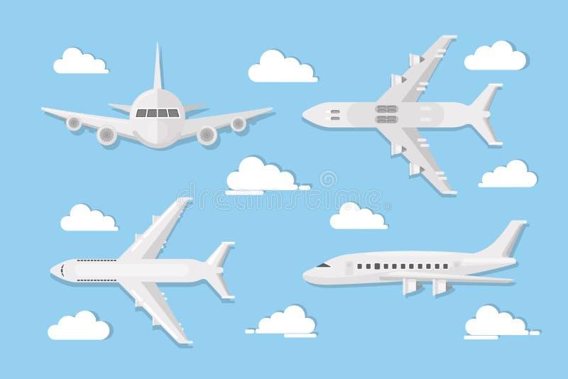 Flugzeuge im Himmel vektor abbildung