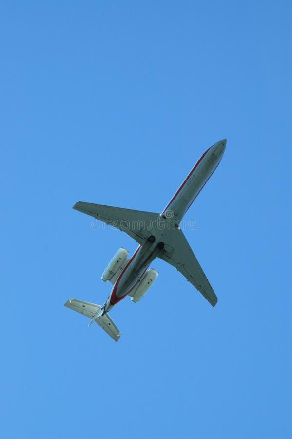 Flugzeuge von unterhalb stockfoto