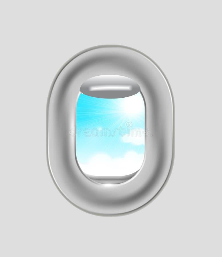 Flugzeugfenster stock abbildung