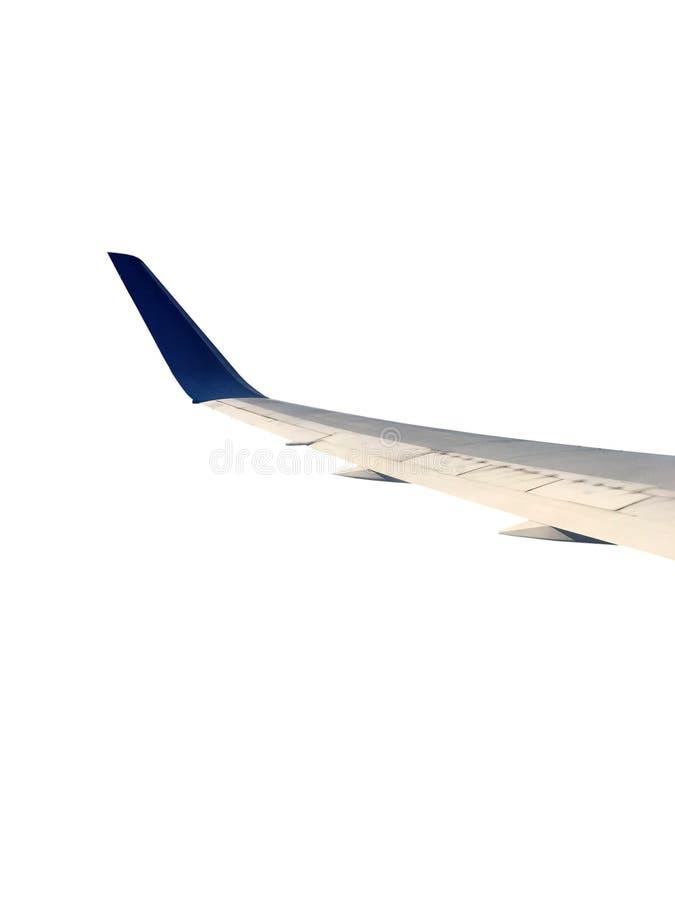 Flugzeugflügel auf dem weißen Hintergrund lizenzfreie stockfotos
