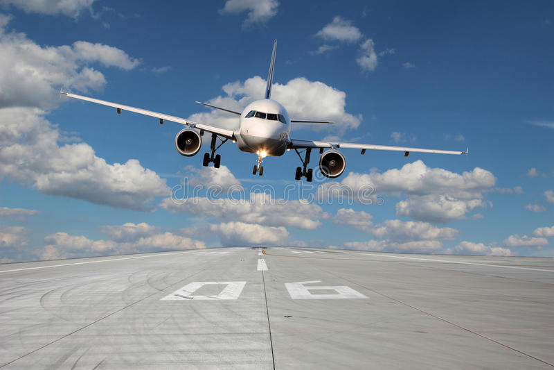 Flugzeugflachpass stockbilder