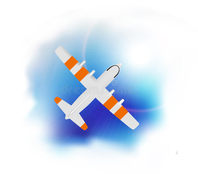 Flugzeugfliegen lizenzfreie abbildung