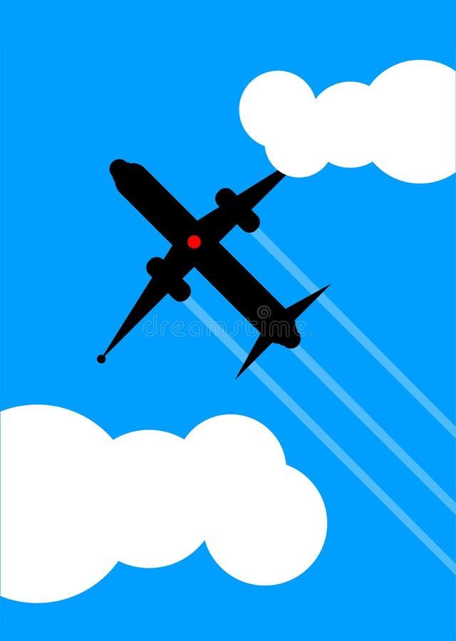 Flugzeugflugwesen obenliegend stock abbildung