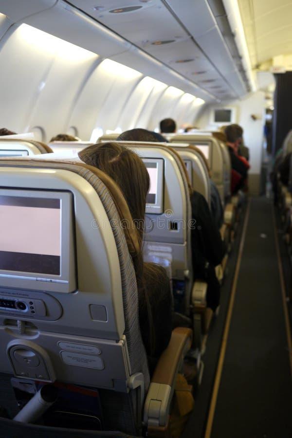 Download Flugzeuginnenraum stockfoto. Bild von international, flugzeug - 26374782