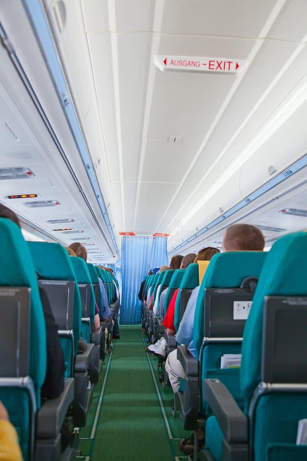Flugzeugkabine lizenzfreies stockfoto