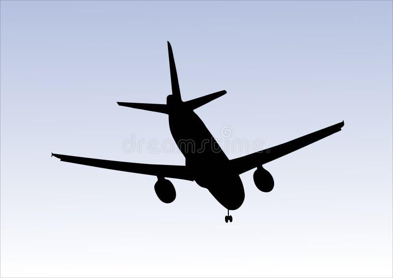 Flugzeuglandung stock abbildung