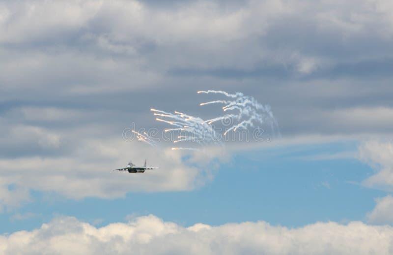 Flugzeugmilitär stockfoto