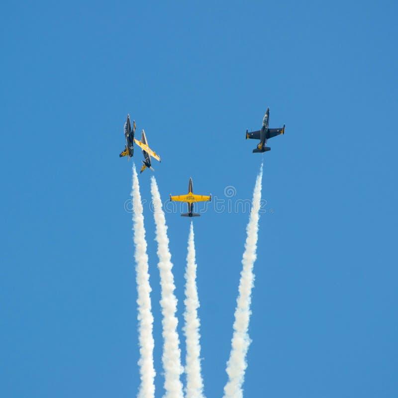 Flugzeugmilitär stockbild