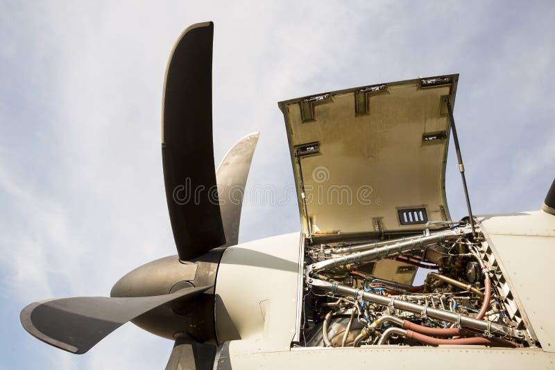 Flugzeugmotor-Turbinenwartung stockfotos