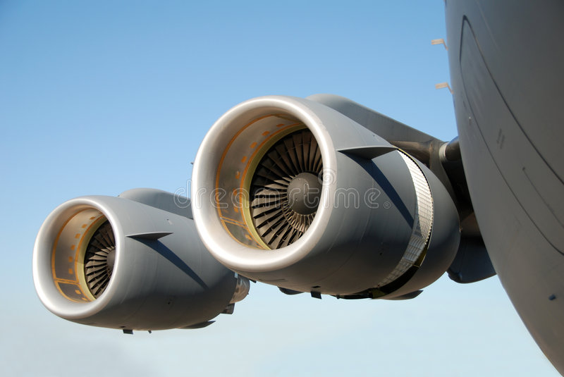 Flugzeugmotoren lizenzfreie stockfotos