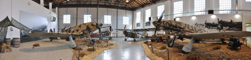 Flugzeugmuseumspanorama lizenzfreie stockbilder