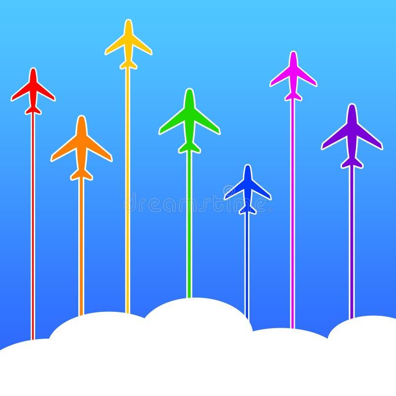 Flugzeugreise vektor abbildung
