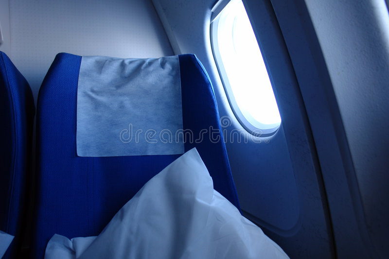 Flugzeugsitz lizenzfreie stockbilder