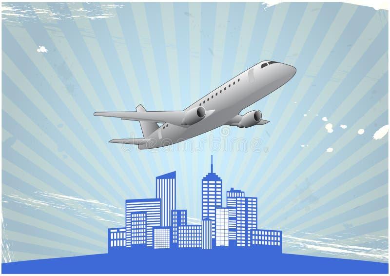 Flugzeugstadt vektor abbildung