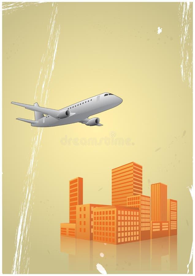 Flugzeugstadt lizenzfreie abbildung