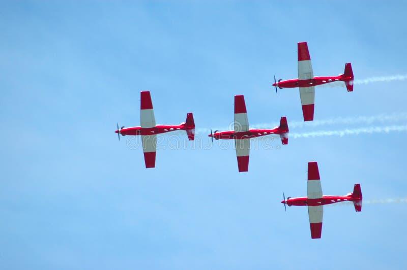 Flugzeugteamwork stockbild