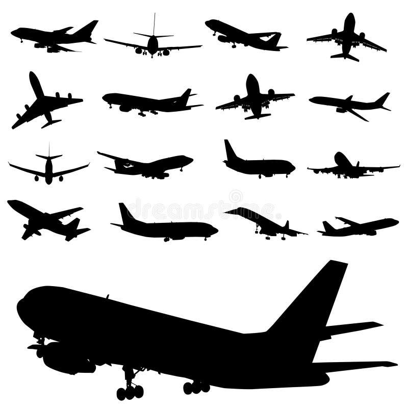 Flugzeugvektor lizenzfreie abbildung