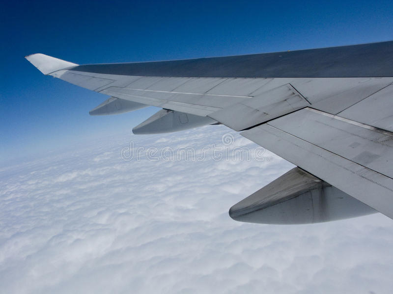 Flugzeugverkehr stockfoto