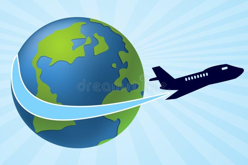 Flugzeugverkehr vektor abbildung