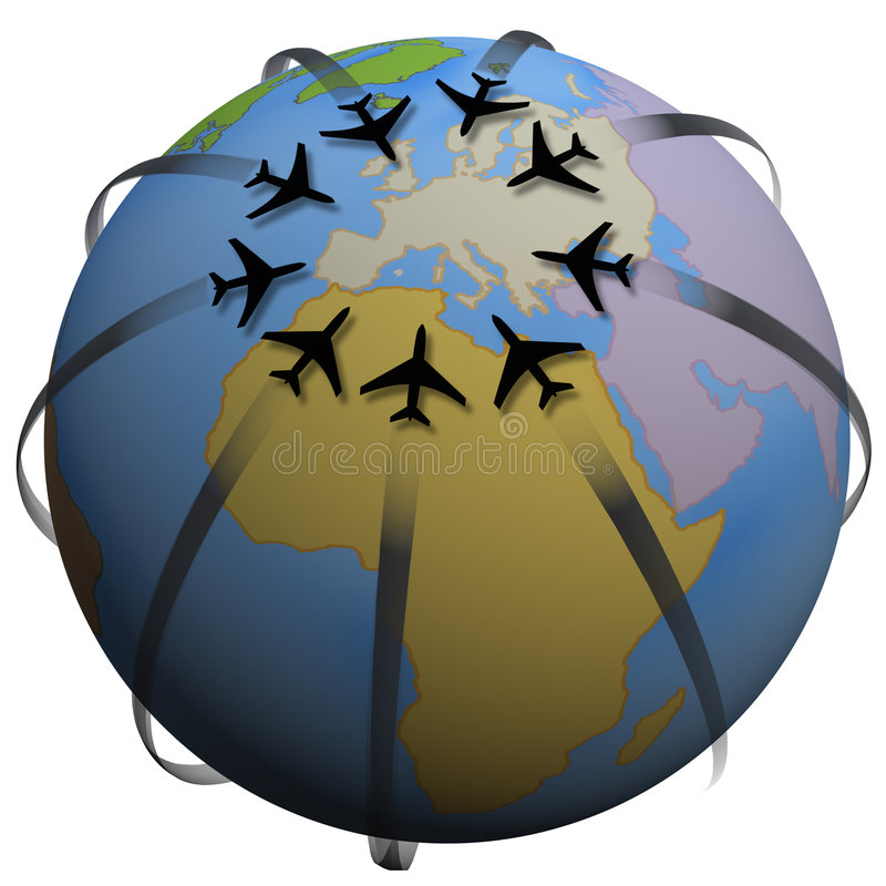 Flugzeugverkehr-Zieleinheit: Europa vektor abbildung