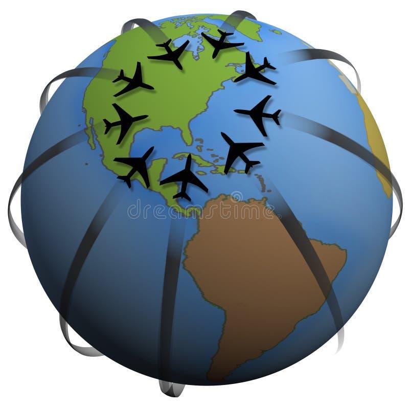 Flugzeugverkehr-Zieleinheit Ost-US lizenzfreie abbildung