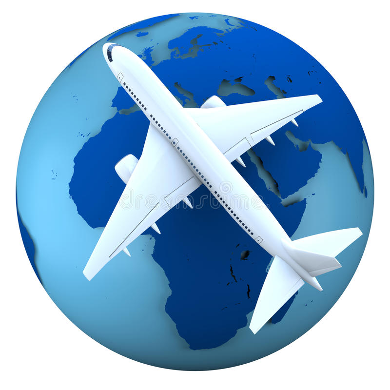 Flugzeugverkehrkonzept vektor abbildung