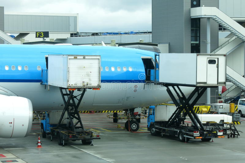 Flugzeugverpflegung stockbild