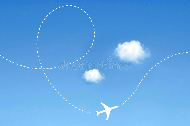 Flugzeugweg stockfoto