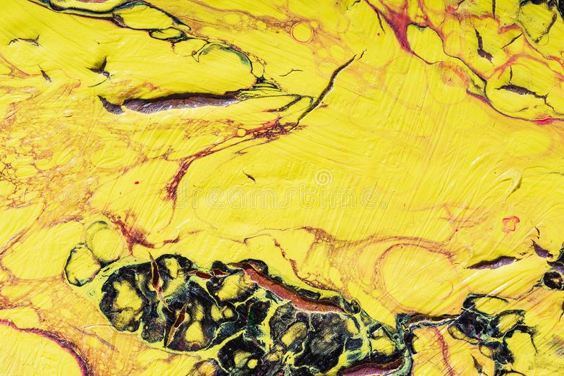 Liquid acrylic. Fluid art- color blot. Fluid art- marbled effect. Abstract artwork- stain, splashes, smearing the dye. Liquid acrylic- color blot. Pigment water stock photo