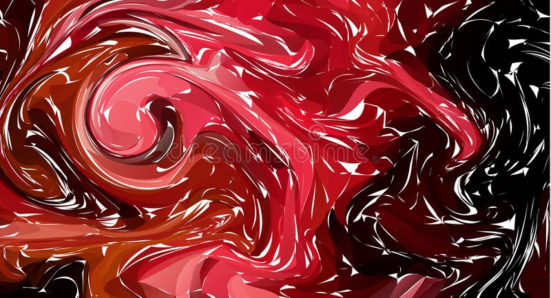 Fluid colorful shapes background. Dark red Trendy gradients. Fluid shapes composition. Abstract Modern Liquid Swirl Marble flyer d. Esign for background. vector stock illustration