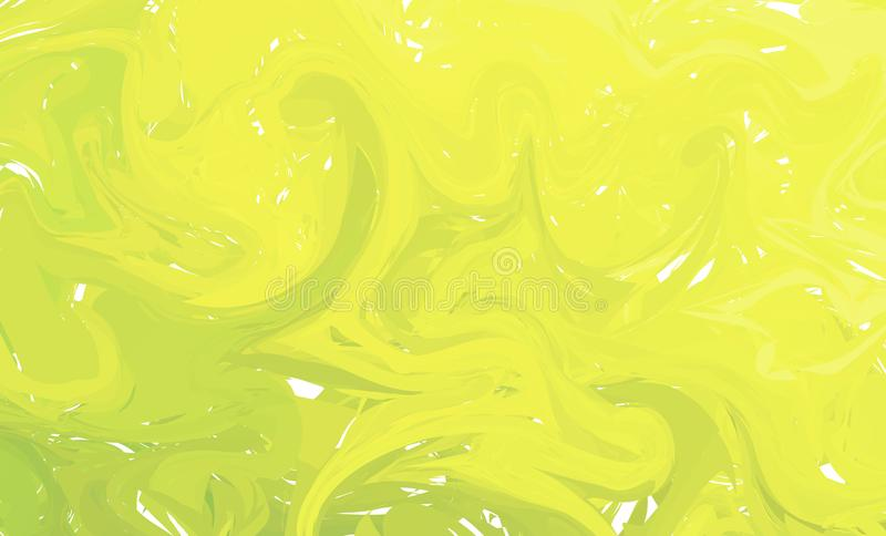 Fluid colorful shapes background. Green and Yellow Trendy gradients. Fluid shapes composition. Abstract Modern Liquid Swirl Marble. Flyer design for background royalty free illustration