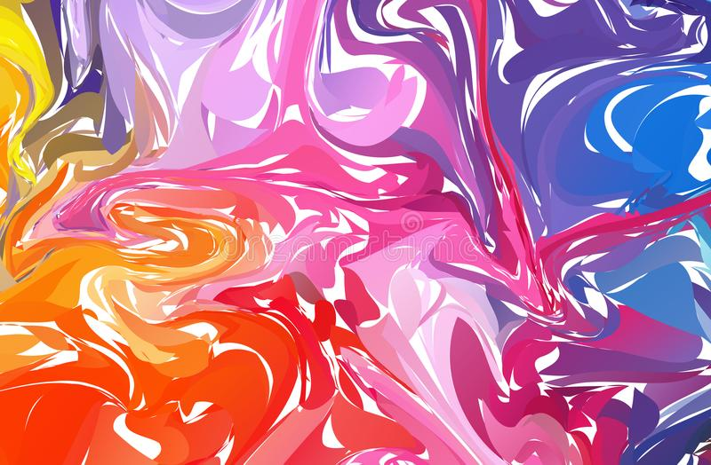 Fluid colorful shapes background. Rainbow Trendy gradients. Fluid shapes composition. Abstract Modern Liquid Swirl Marble flyer de vector illustration