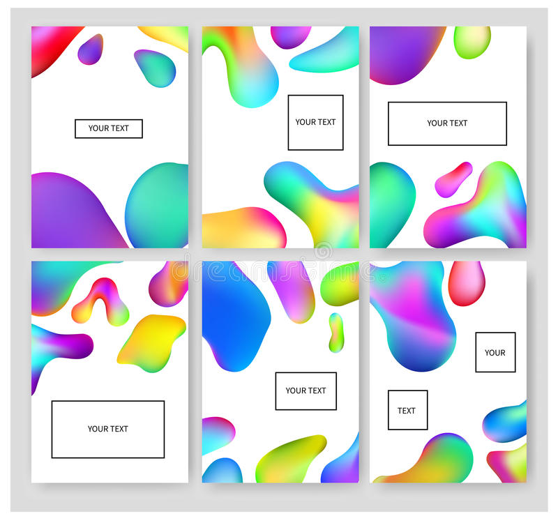 Fluid colors banners set. vector illustration