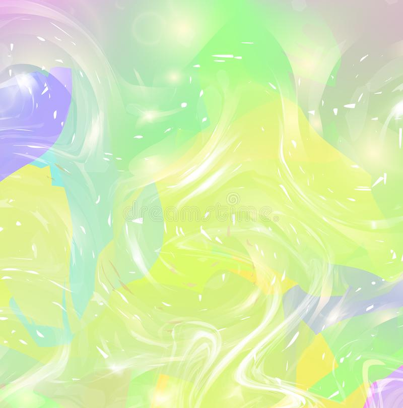 Fluid fantasy background in vibrant baby colors royalty free illustration