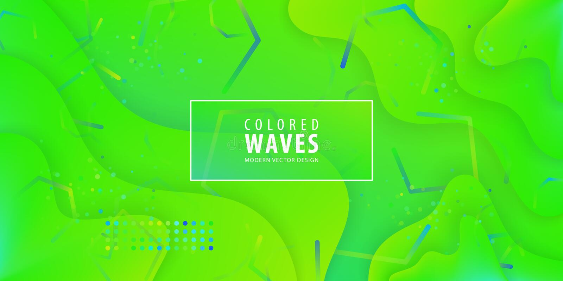 Fluid gradient shapes composition. Liquid color background design. Design posters. Vector illustration. royalty free illustration