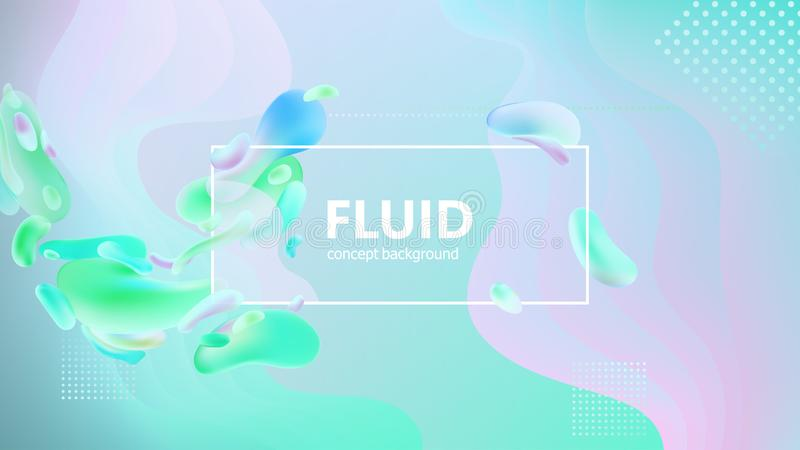 Fluid gradient shapes composition. Liquid color background design. Design posters. Vector illustration. Eps10 stock illustration
