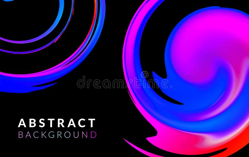 Fluid or liquid dynamic color abstract vector background. Trendy colourful flow design. Spiral shape. Motion graphic and. Gradient. Psychedelic pattern. Vector vector illustration