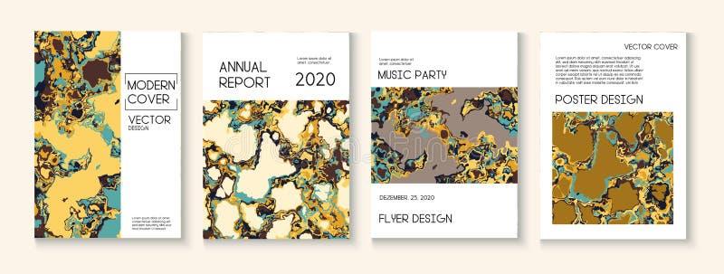 Fluid Paint, Clay Textur Vector Decklayout Trendy Magazine, Music Poster Template Ökologie-Poster des modernen Earth Day vektor abbildung