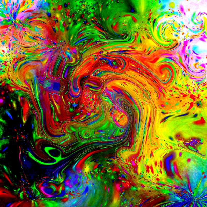 fluid psychedelic tegelplatta royaltyfri illustrationer