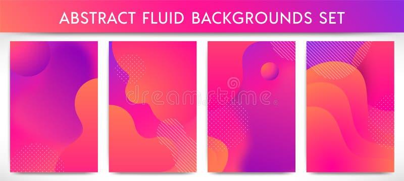 Fluid shapes vertical banners set royalty free illustration