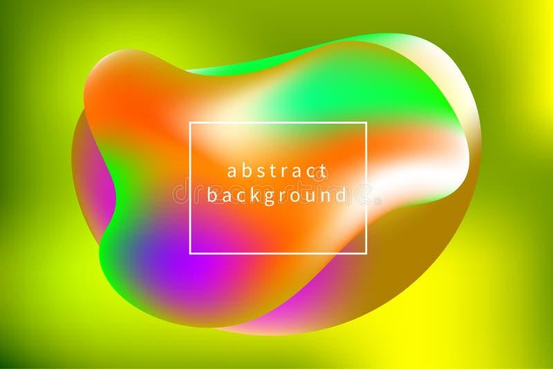 Fluide de bannière, baisses de gradient, fond abstrait de tendance, templat illustration stock