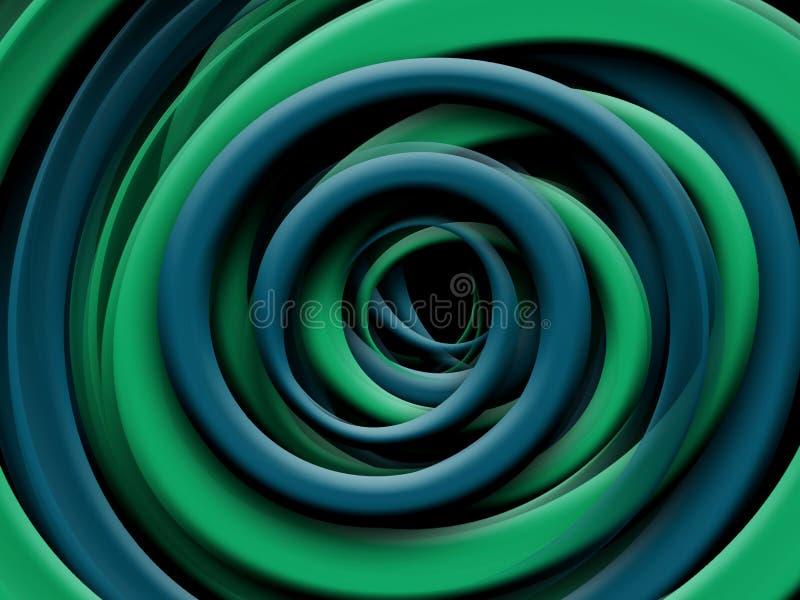 Fluidu falowy abstrakcjonistyczny tło, płynie rozjarzonego koloru ruchu pojęcie, modnego abstrakcjonistycznego układu szablon ilustracja wektor