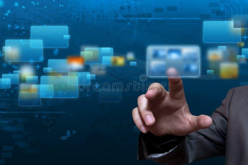 Fluir tecnología de la pantalla imagen de archivo libre de regalías
