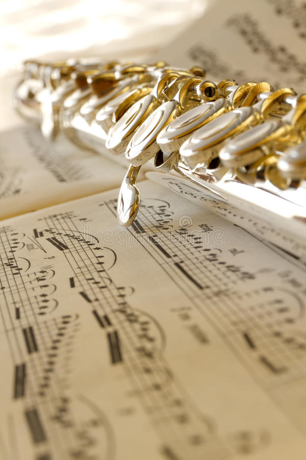Fluit en muziek royalty-vrije stock fotografie
