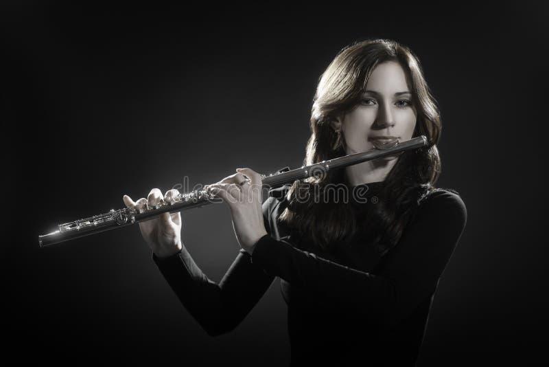 Fluitist het spelen fluit royalty-vrije stock afbeelding