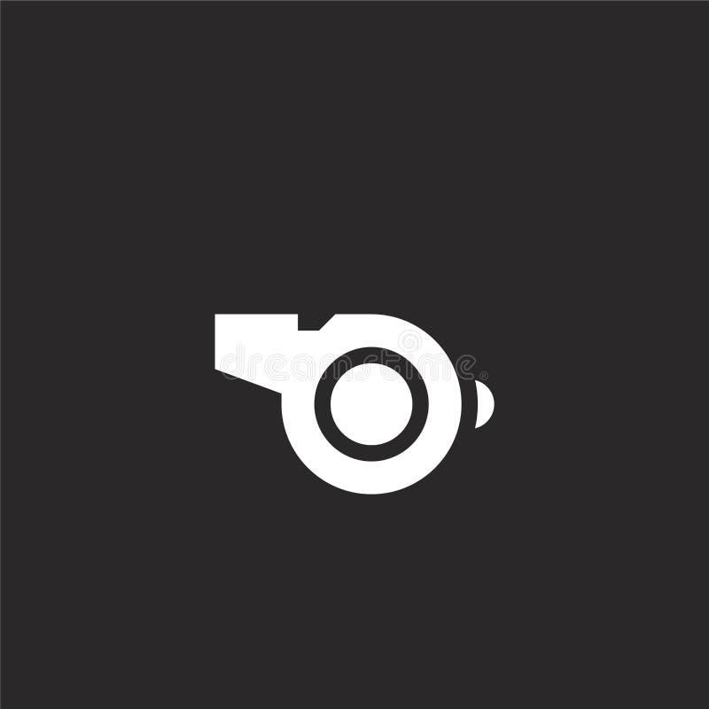 Fluitjepictogram Gevuld fluitjepictogram voor websiteontwerp en mobiel, app ontwikkeling fluitjepictogram van gevulde hulpdienste stock illustratie