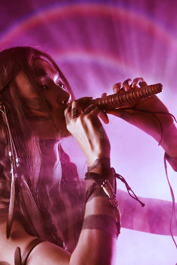 Fluitmuziek royalty-vrije stock foto's
